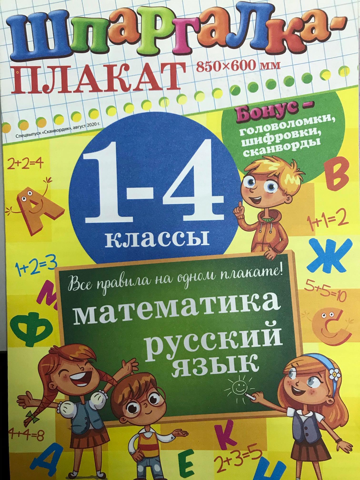 Шпаргалка-плакат